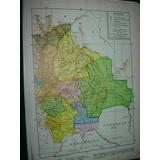 Mapa Antiguo Color Geografia Politico Bolivia Brasil Mapas