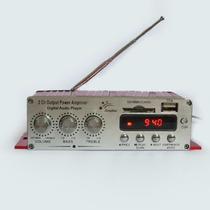 Mini Amplificador De Som P Carro Kinter 2 Canais Digital 25w