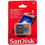 Cartão De Memória Micro Sd 4 Gb Sandisk Lacrado Original