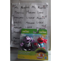4 Figuras Plaza Sesamo Elmo Conde Patinadoras Playskool