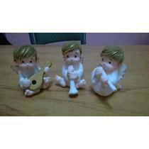 Adorno Angelitos Para Bautismo En Porcelana Fria