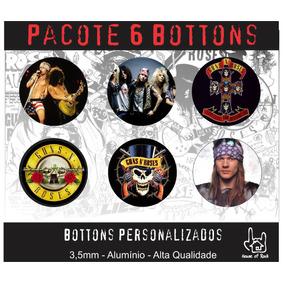 Pacote 6 Bottons Guns N