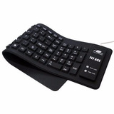 Teclado Keyboard Flexível De Silicone Usb / Ps2 - Preto