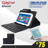 Teclado Bluetooth P/tablet,ipad Mini, Galaxy, + Estuche