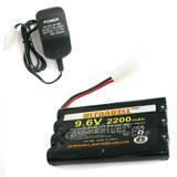 Bateria Pilha Recarregável Ni-mh 9.6v 2200mah + Carregador