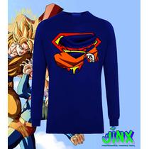 Playera O Camiseta Goku Superman Logo Manga Larga Jinx!