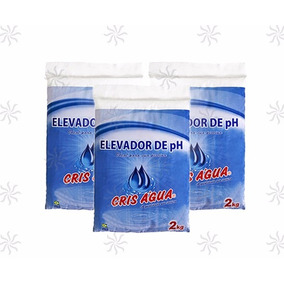 Kit 10 Barrilha Leve Elevador De Ph Para Piscina 2kg Cada