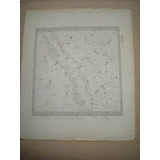 Antiguo.mapa Celeste.constelaciones.grabado.1830