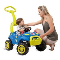 Carrinho Passeio Infantil Bebe Pedal Smart Azul Bandeirante