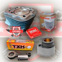 Kit Motor Alta Cg/titan125 94/01 Pistão Cbx200 Comando 296°