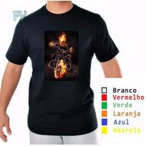 Camisa Personalizada Motoqueiro Fantasma 100%algodão