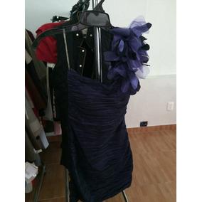 Hermoso Vestido De Fiesta Corto Seminuevo Morado