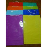 Bolsas Carton Plastificadas Cordon X 40 Unid
