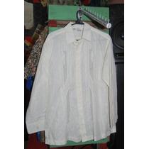 Camisa Hawaiana Guayabera Artesanal Manga Larga C 1501