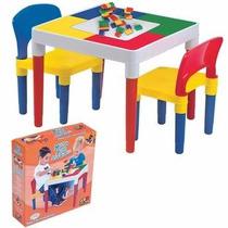 Mesinha Didática Infantil Multiatividades Com 2 Cadeiras Toy