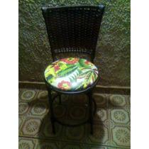 Cadeira De Jantar Revestida Em Junco Sintético