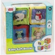 7101 Cubos De Tela Con Textura 4 Piezas Bebé De Little Hero