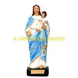 Imagem Nossa Senhora Rosario São Nicolas Imagem Estatua 20cm