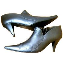 Hush Puppies Zapatos 100 % Cuero Gris Impecables Botines