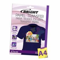 Kit 20 Folhas Papel Transfer Dark P/ Tecidos Escuros Bright