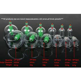 Kit 12 Ventosas + Magnetos-ventosaterapia Massoterapia