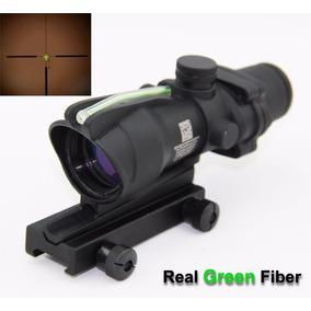 Mira Tipo Acog 4x32 Fibra Optica Verde No Usa Bateria
