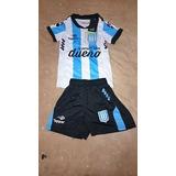 Remera Camiseta De Racing Titular, Suplente, Niño Por Menor