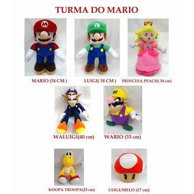 Turma Mario Bros Pelúcia Escolha Já A Sua!