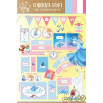Kit Imprimible Personalizado Cenicienta Disney Candybar Deco