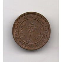 Ceylan Colonia Moneda De ¼ Cent 1901 Sc Km#90 - Argentvs