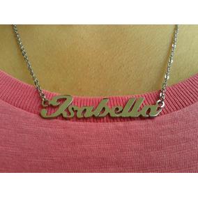 Correntinha/colar/gargantilha Em Aço Inox Nome Personalizado
