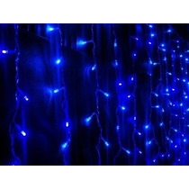 Pisca Pisca 100 Lampadas Led Azul Cascata Natal E Decoracao