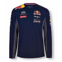 Camiseta Manga Longa Comprida Frio Blusa Red Bull Infiniti
