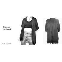 Kimono Moda- Crepe, Seda - Talle Único