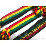 Pulseiras Tornozeleiras Reggae Jamaica Grossa 2cm