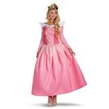 Fantasia Feminina Princesa Aurora Bela Adormecida Adulto