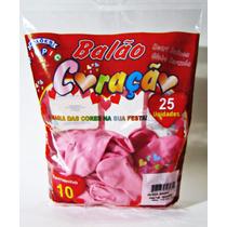 100 Balão,modelo Coração Rosa Promoção 4 Pacote R$ 49,90