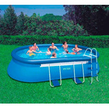 piscina inflable intex x xcm con escalera gigante