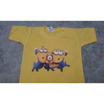Camiseta Minions Infantil Adulto100% Algodão