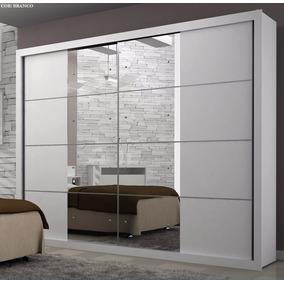 Roupeiro Vizion 02 Pts Com Espelho Branco - Móveis Rufato