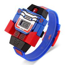 Reloj De Niño Transformers Convierte En Robot Retro Juguete