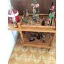 Mini Bar Licorera De Madera Con Ruedas