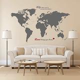 Maderas Artbox Enorme Mapa Del Mundo Vinilos Decorativos Co