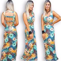 Vestido Longo Estampado Feminino Verão Com Bojo
