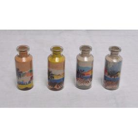 Mini Garrafa De Areia Colorida Artesanal Natal Rn 5,5 Cm