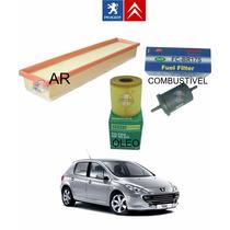 Kit Filtros Ar / Oleo / Combustivel Peugeot 307 1.6 16v