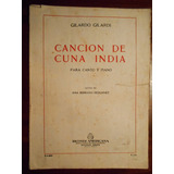 Partitura Canto Y Piano Cancion De Cuna India G Gilardi 1951