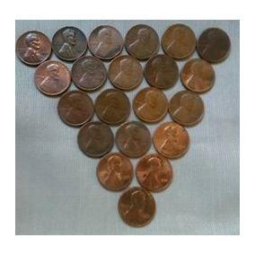Lote De 25 Moeda One Cent Dolar Usa M10