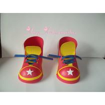 Sapato De Palhaço Com Estrela Eva