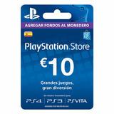 Playstation Network Psn Card 10 Euros España Ps4 Ps3- Scheda